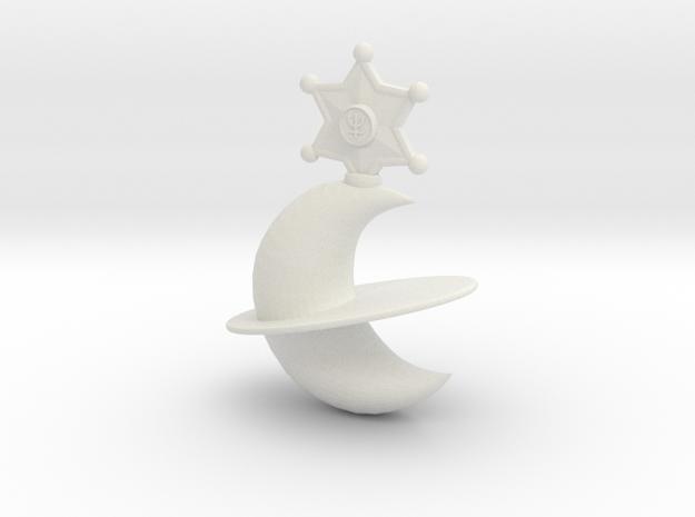 Neptune Lip Rod Replacement Topper in White Natural Versatile Plastic