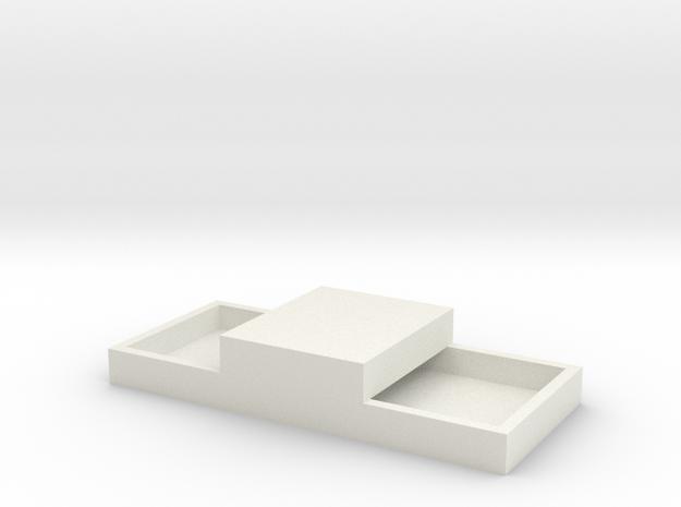 15x11mm 2 Speaker Resonance Box - Extra Width in White Natural Versatile Plastic