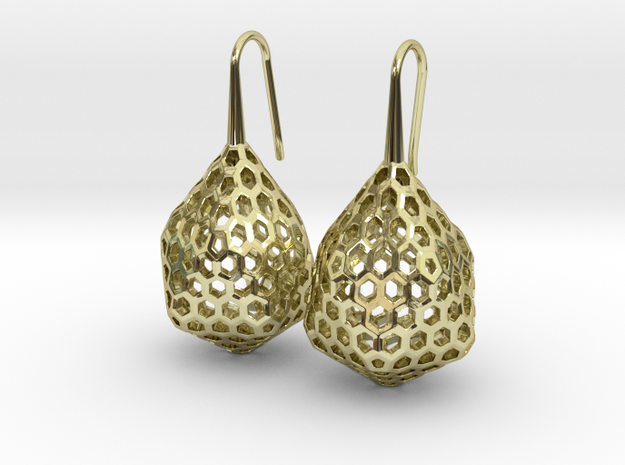STRUCTURA Stylized, Earrings. in 18K Gold Plated