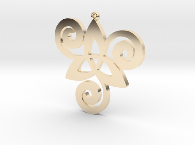 pendent in 14k Gold Plated Brass