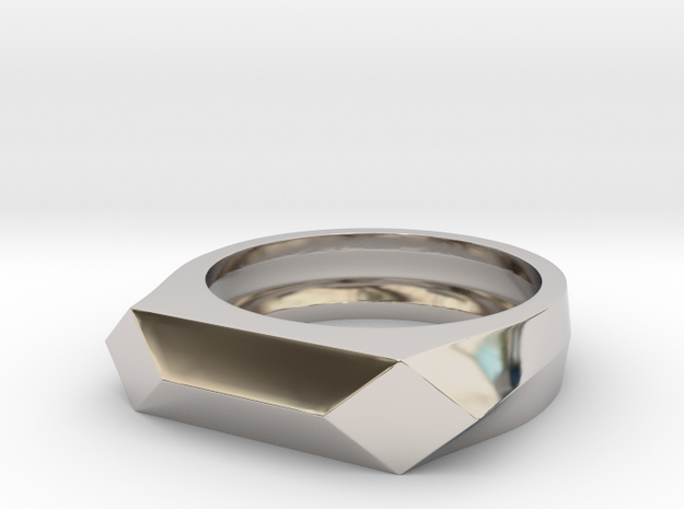 Gamora's Faceted ring in Rhodium Plated Brass: 6 / 51.5