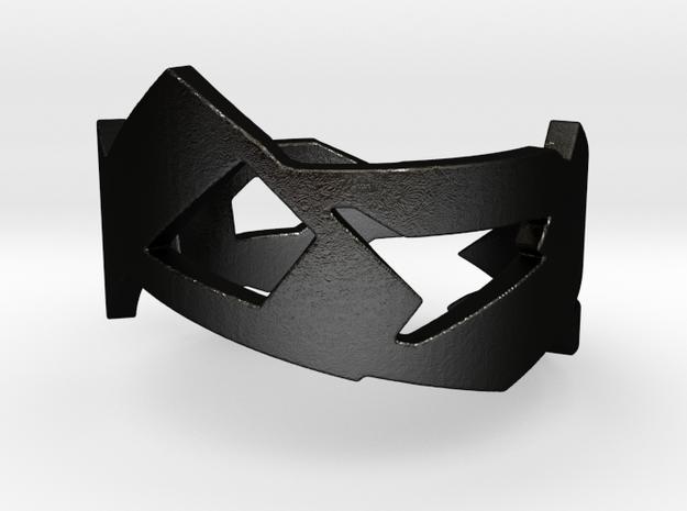 Fractal  Ring  in Matte Black Steel: 10.25 / 62.125