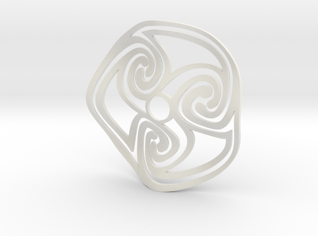 Celtic Fruit Bowl -19.5cm in White Natural Versatile Plastic