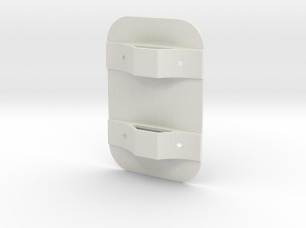 Tank Mounting Bracket in White Natural Versatile Plastic