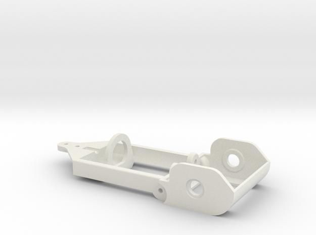 "motor holder 4 ""Back to '60"" 1/24 slotcar chassis in White Natural Versatile Plastic"