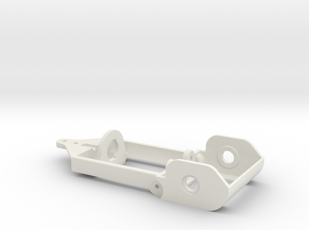 "motor holder ""Back to '60"" 1/24 slotcar chassis -5 in White Natural Versatile Plastic"