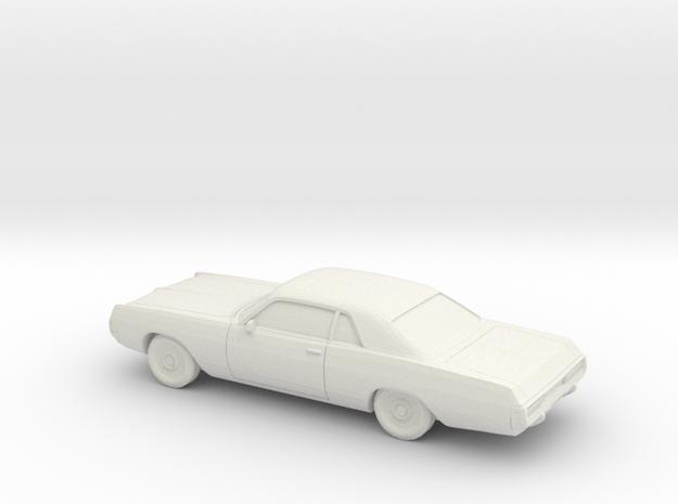 1/76 1971-72 Dodge Polara Coupe in White Natural Versatile Plastic