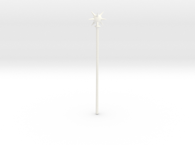 Damon Staff in White Processed Versatile Plastic