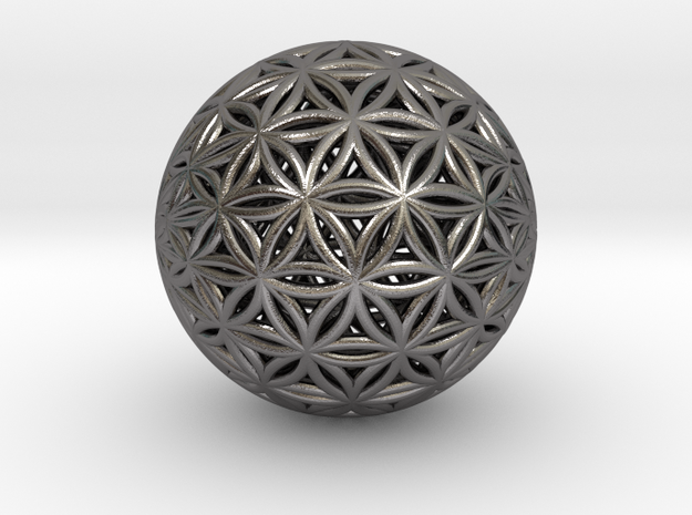 Shrink Wrapped Orb of life in Polished Nickel Steel