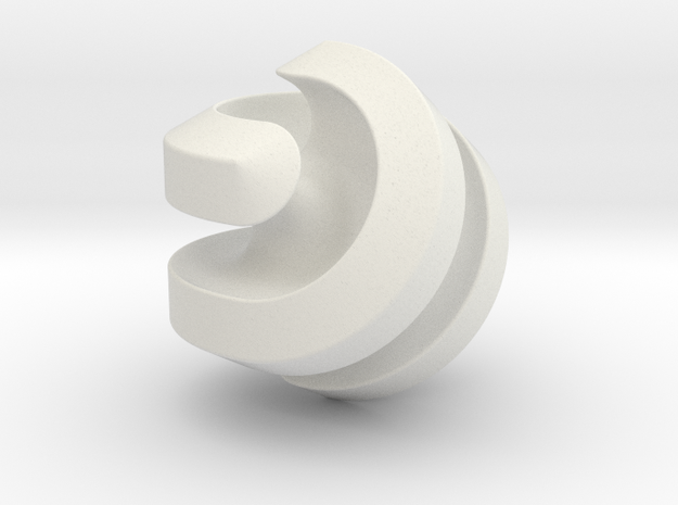Hexasphericon in White Natural Versatile Plastic