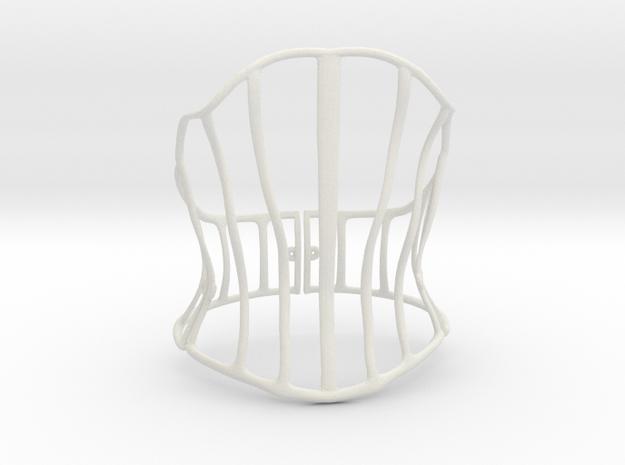 Cage Corset in White Natural Versatile Plastic: Large