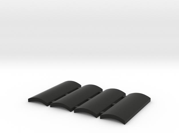 Grips for vintage Bolsey/Praco flashes in Black Natural Versatile Plastic