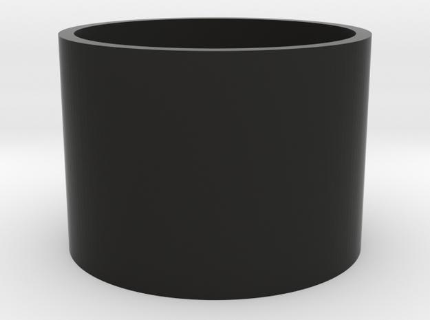 "7/8"" Yoda blade plug body in Black Natural Versatile Plastic"