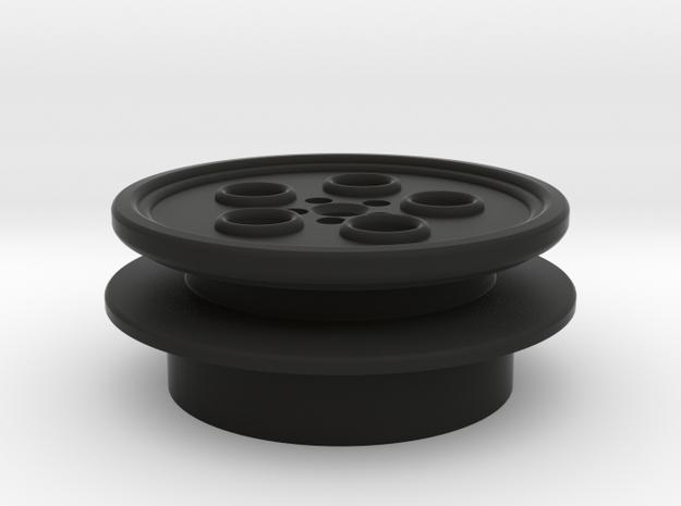 """7/8"""" Yoda blade plug top part in Black Premium Versatile Plastic"""
