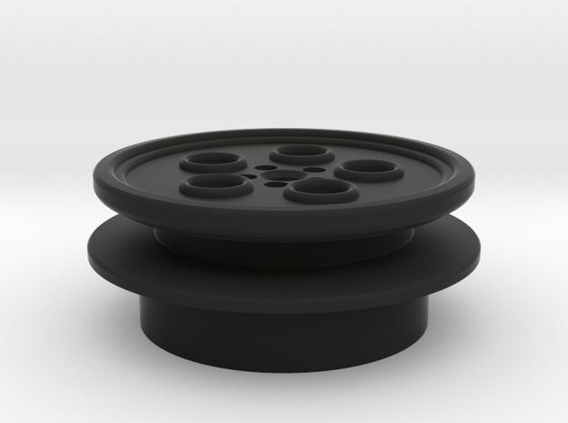 "1"" MR-Hasbro Yoda blade plug top part-2 in Black Natural Versatile Plastic"