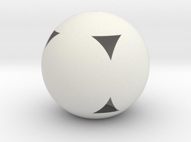 Lampshade-Sphere-Cube in White Natural Versatile Plastic