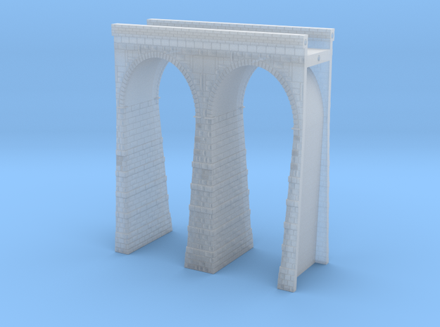 T-scale Stone Viaduct Section (2 Arches) - 60mm St