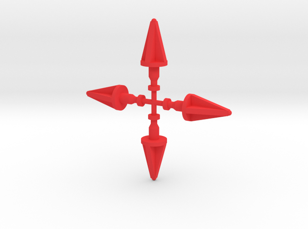 Andromeda Missiles 4 Pack in Red Processed Versatile Plastic