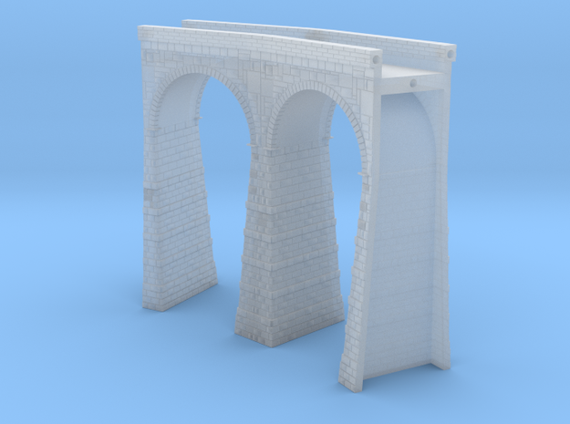 T-scale Stone Viaduct Section - 30d Curve - 145mm