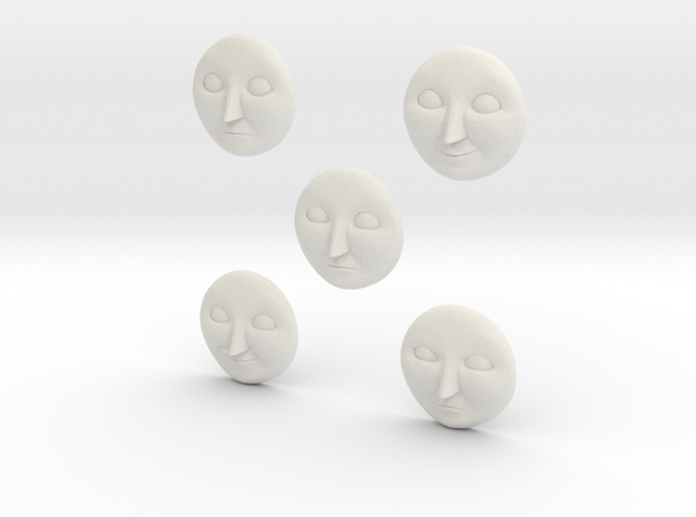 Character No 3 - Faces [H0/00] in White Natural Versatile Plastic