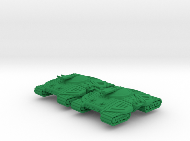 Terrapin Super Heavy Tracked Armor - 3mm in Green Processed Versatile Plastic