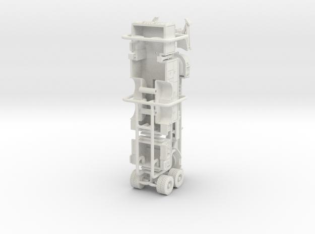 1/87 Pierce Tower Ladder 90's rebuild body in White Natural Versatile Plastic