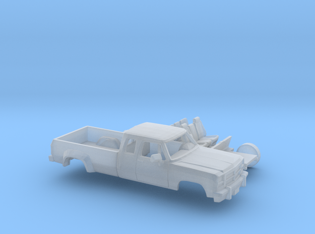 1/160 1991-93 Dodge Ram ExtCab Dually Kit in Smooth Fine Detail Plastic