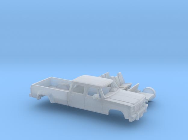 1/87 1991-93 Dodge Ram CrewCab Dually Kit in Smooth Fine Detail Plastic