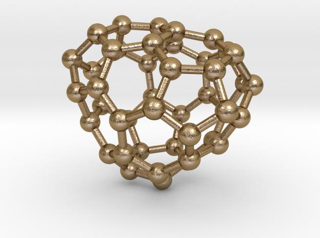 0690 Fullerene c44-62 c1 in Polished Gold Steel