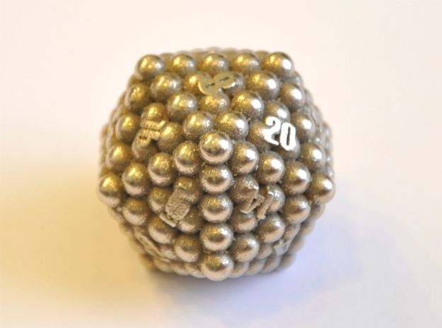 D20 Balanced - Balls (Smooth) in Polished Bronzed-Silver Steel