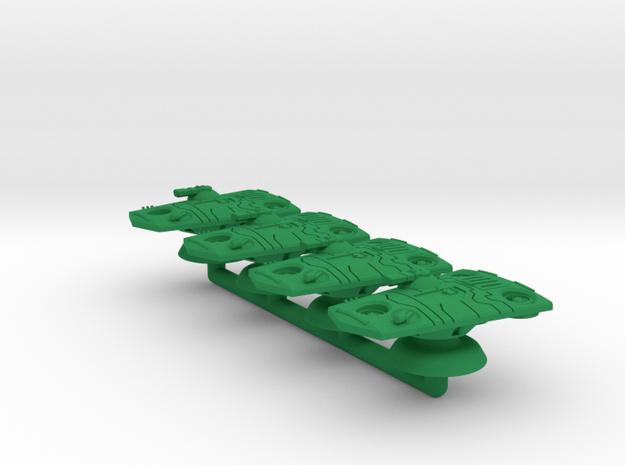 Jaguar Medium Grav Armor - 3mm in Green Processed Versatile Plastic