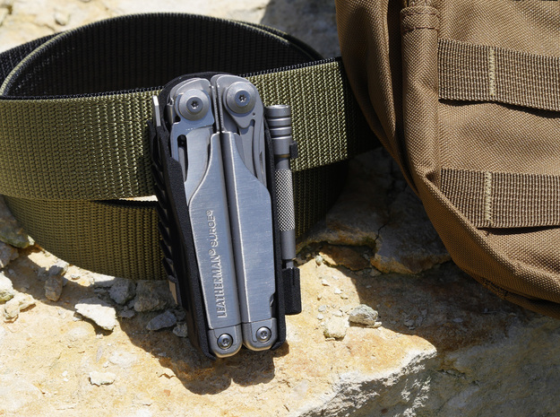 Holster for Leatherman Surge, Closed Loop in Black Natural Versatile Plastic: Small