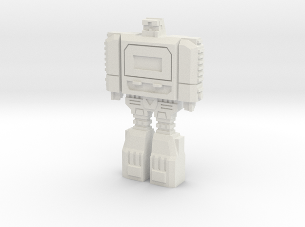 Retro Time Robot in White Natural Versatile Plastic