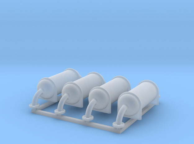 Roof Air Tanks 4x in Smooth Fine Detail Plastic