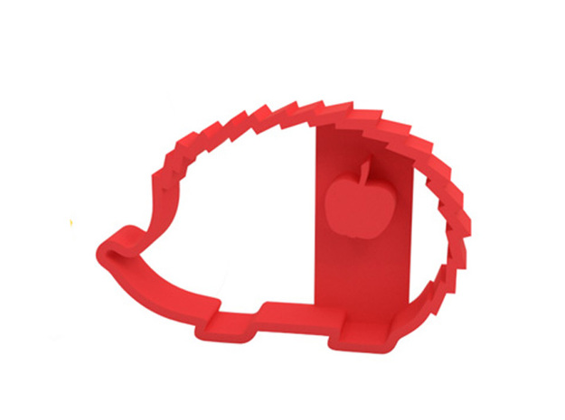 Cookie cutter in Red Processed Versatile Plastic