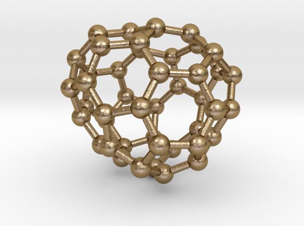 0710 Fullerene c44-82 s4 in Polished Gold Steel
