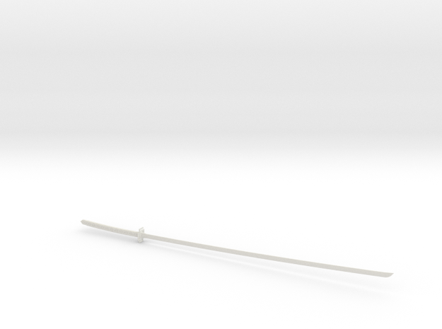 1/3rd Scale Ichigos' Bankai Sword From Bleach in White Natural Versatile Plastic