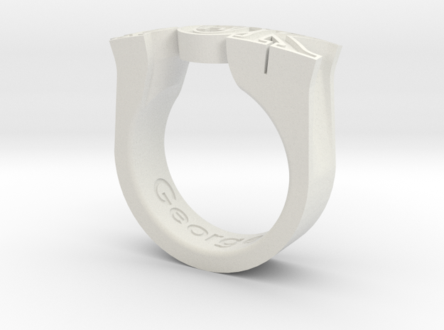 PhiThetaKappa Ring Size 10.5 in White Premium Versatile Plastic
