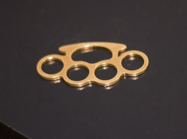 Knuckle Duster Key Ring in Raw Brass