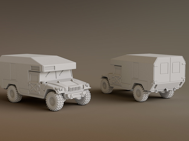 Humvee Ambulance Scale: 1:200 in Smooth Fine Detail Plastic