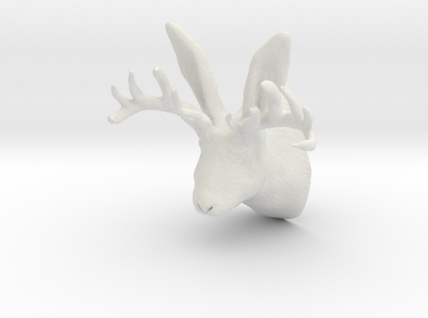 Jackalope in White Natural Versatile Plastic