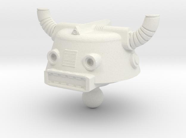 Phobos Head for Time Traveler in White Natural Versatile Plastic