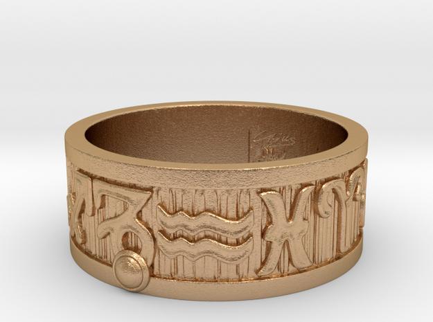 Zodiac Sign Ring Capricorn / 22mm in Natural Bronze