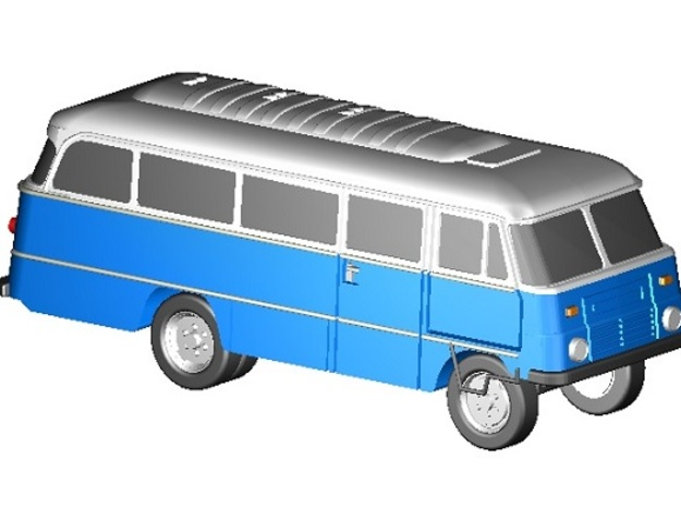 Robur-Bus (Z,1:220) in Frosted Ultra Detail