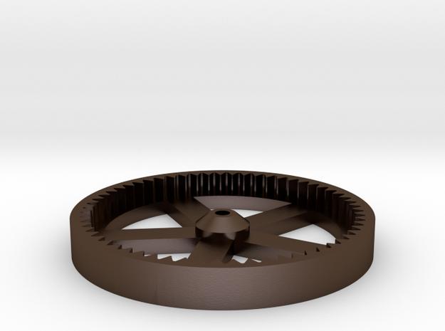 RepRap 3D Printer Mendel Large Gear in Polished Bronze Steel