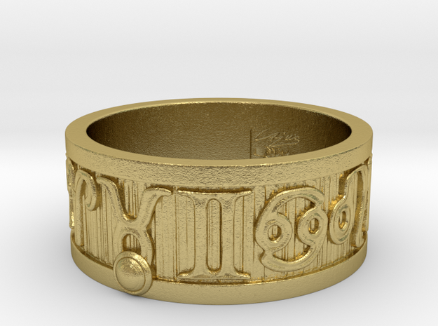 Zodiac Sign Ring Taurus / 21mm in Natural Brass