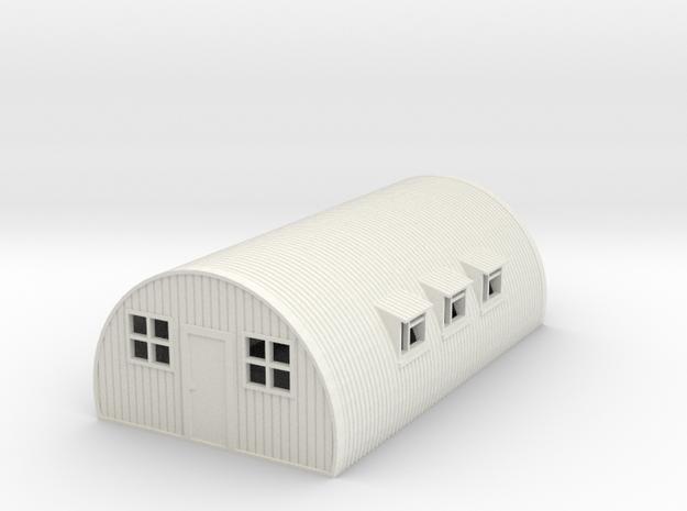 1/120th scale Nissen hut in White Natural Versatile Plastic