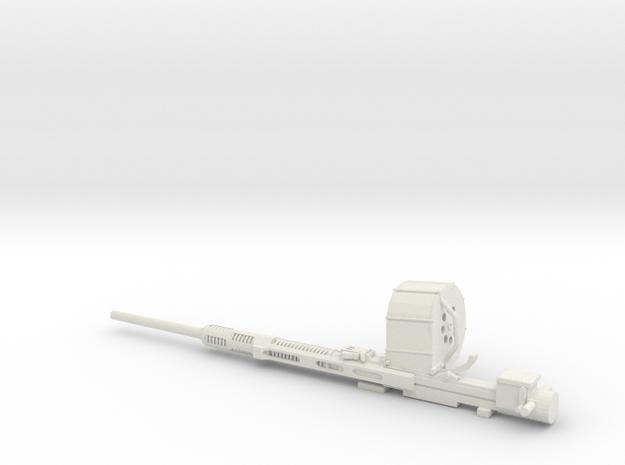 1/16 Oerlikon 20mm cannon in White Natural Versatile Plastic