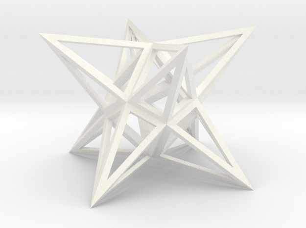 Stellated Square Anti-Diamond Frame in White Processed Versatile Plastic