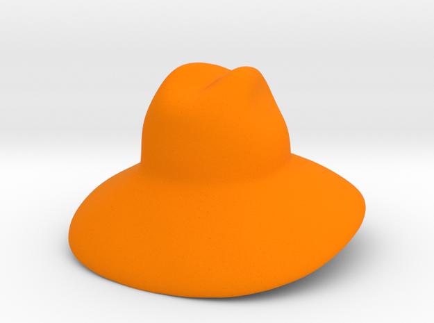 Oversized Gucci Hat in Orange Processed Versatile Plastic: Small